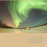 Polar lights are caused by particles from the Sun that enter the Earth's atmosphere during a solar storm.